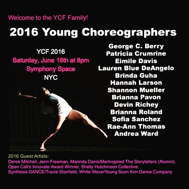 KDC dances at the Young Choreographers Festival 2016!